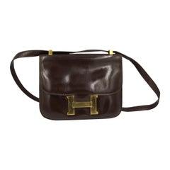 1971 Vintage Dark Brown Hermes Constance Bag