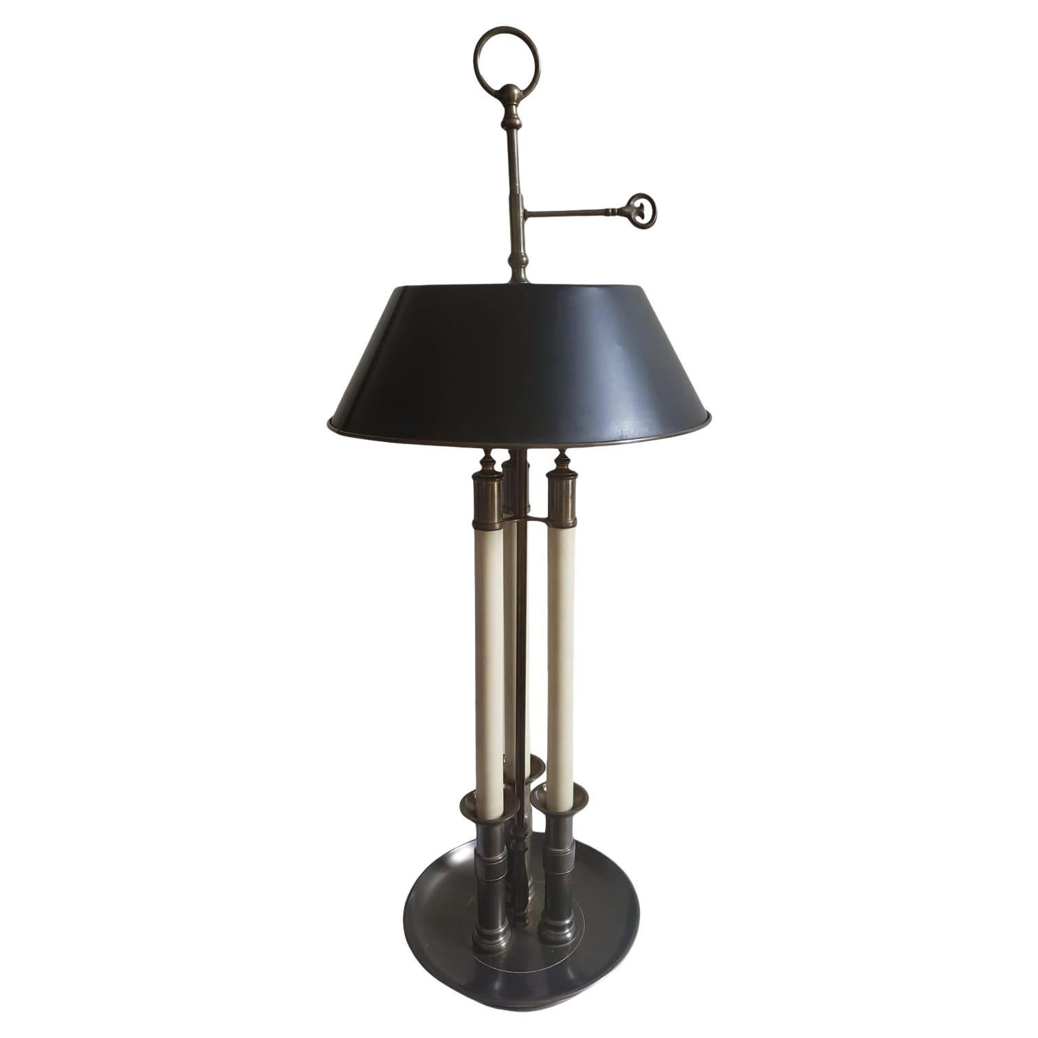 1972 Chapman Solid Brass Bouillotte Lamp with Tole Shade