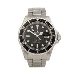 1972 Rolex Submariner Single Red Stainless Steel 1680 Wristwatch