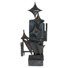 1973 Carlo Balliana Brutalist Steel Abstract Sculpture