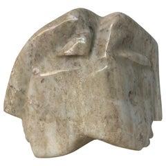 1973 Double Head Marble Sculpture
