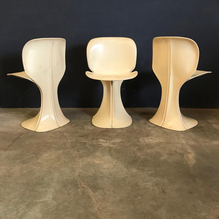 Mid-Century Modern 1973, Pierre Paulin for Boro Belgium, Very Rare Organic 8810 Flower Chairs For Sale