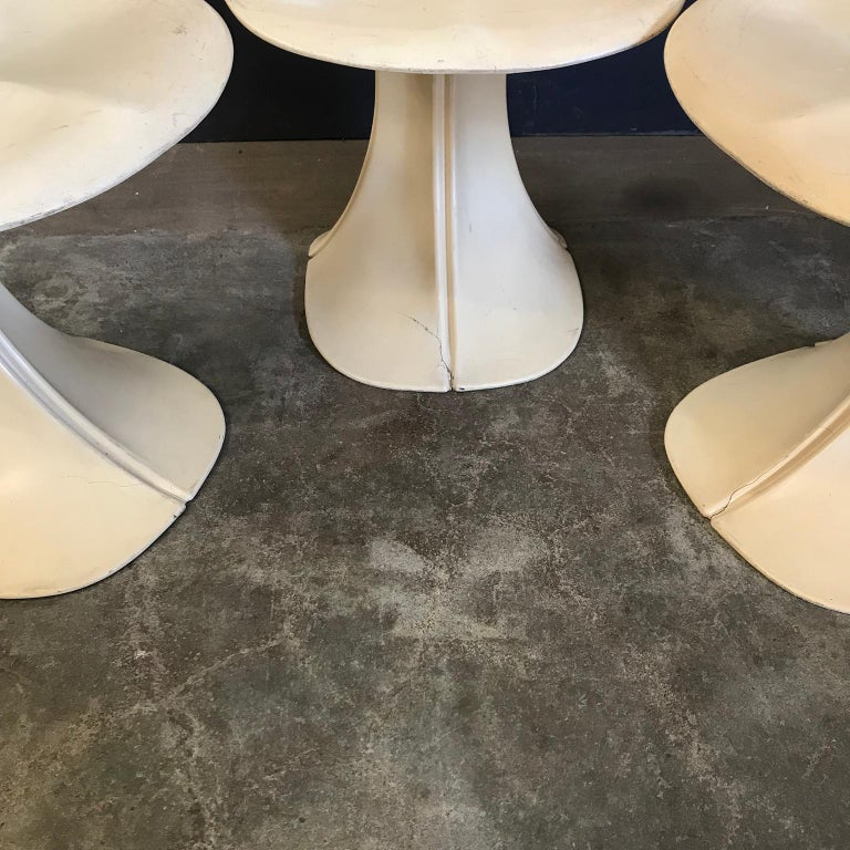 Late 20th Century 1973, Pierre Paulin for Boro Belgium, Very Rare Organic 8810 Flower Chairs For Sale