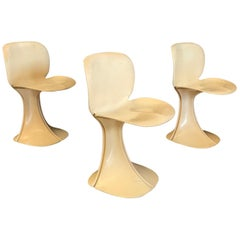 1973, Pierre Paulin for Boro Belgium, Very Rare Organic 8810 Flower Chairs