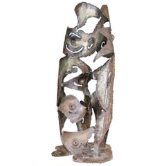 "1973 ""Romolo Gling"" Abstract Sculpture in Metal"