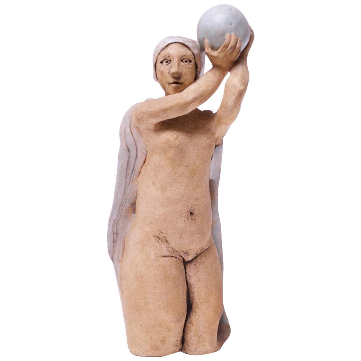 "1973 Studio Ceramic ""Pythia"" Sculpture by Pollack"
