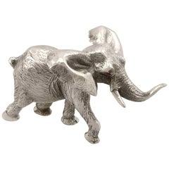 1973 Vintage Sterling Silver Model Elephant