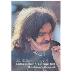 1974 Captain Beefheart Magic Band Unconditionally Guaranteed Promo Poster