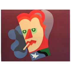 Italy Post  Modern 1974 Depero Multi-Color Serigraphy  Numbered Edition