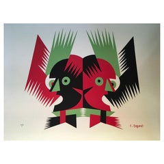 1974 Depero Italy Modern Multi-Color Serigraphy on Paper Numbered Edition