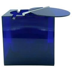 1974 Ice Box/Bucket by Cini & Nils Studio O.P.I. Milano, Blue Acrylic, Italy