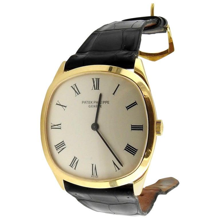 1974 Patek Philippe 18 Karat Yellow Gold Golden Ellipse 3644 Men's Watch For Sale
