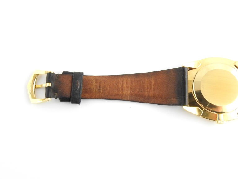 1974 Patek Philippe 18 Karat Yellow Gold Golden Ellipse 3644 Men's Watch For Sale 8