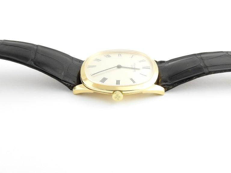 1974 Patek Philippe 18 Karat Yellow Gold Golden Ellipse 3644 Men's Watch For Sale 1