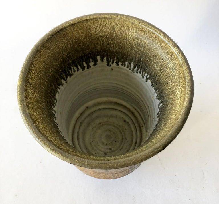 American 1974 Raul Coronel Stoneware California Studio Vase For Sale