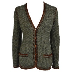 1974 Yves Saint Laurent Haute Couture Hand Crochet Cardigan