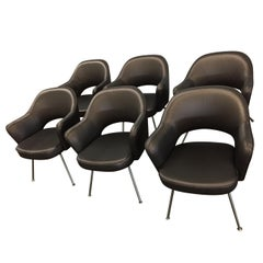 1975 Knoll Saarinen Executive Dining or Office Chairs/ Set of 6