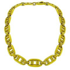 1976 Barry Kieselstein Cord 18 Karat Yellow Gold Link Necklace