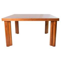 1976 Carlo Scarpa for Bernini Scuderia Walnut Wood Table