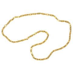 1976 Cartier London Rectangular Gold Link Chain