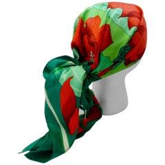 1976 Hermés 'Fleurs De Lotus' Silk Scarf