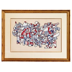 1976 Jean Dubuffet Screenprint