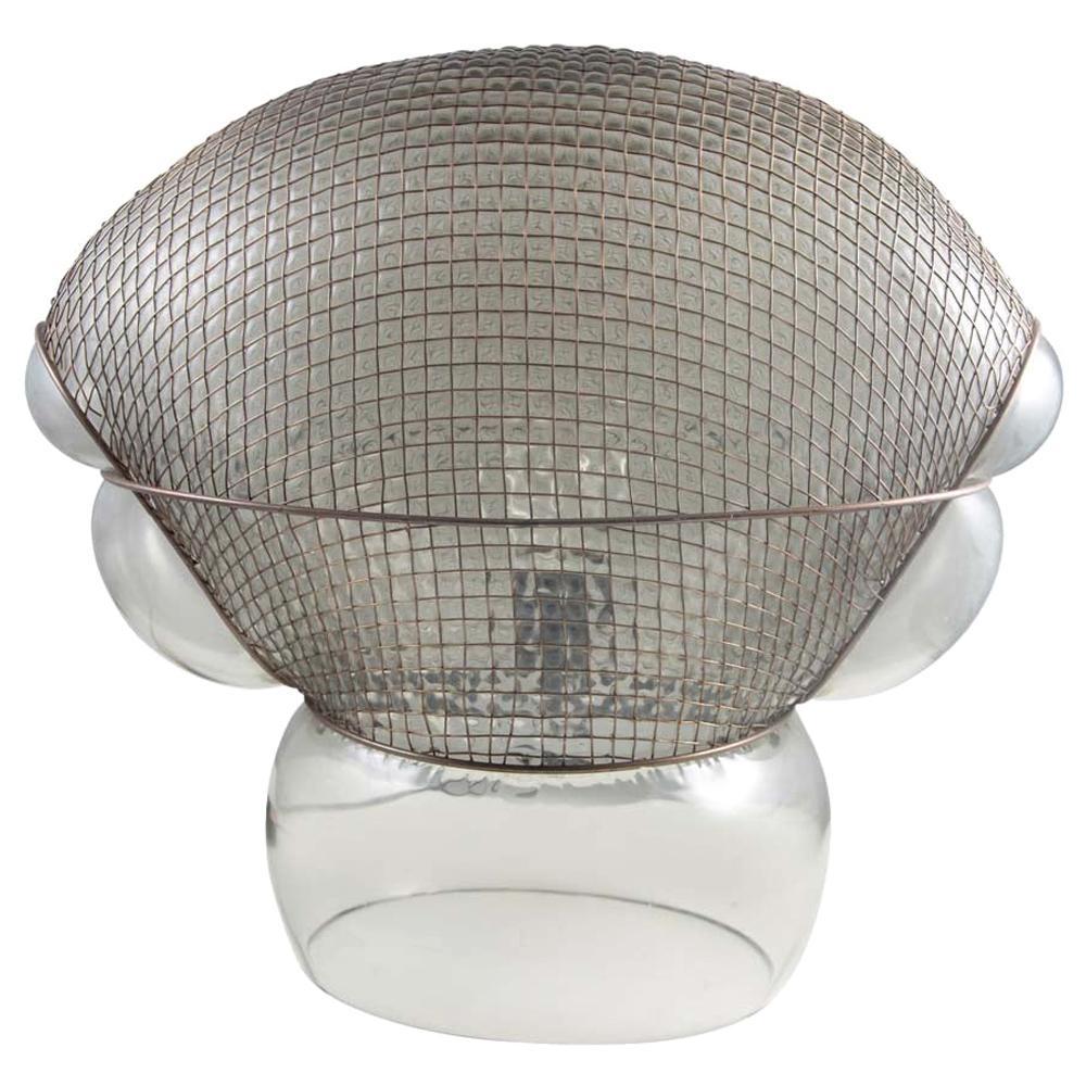 1976 Patroclo Lamp Italian Design by Gae Aulenti for Artemide Clear Glass Metal