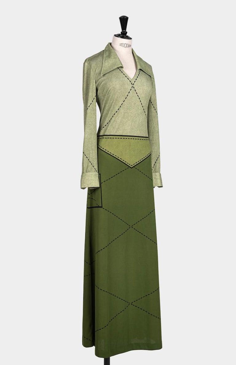 This fabulous Roberta di Camerino maxi dress termed