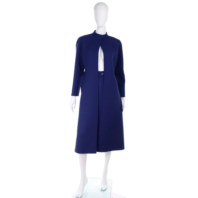 This is an outstanding Spring of 1976 coat and skirt ensemble from Geoffrey Beene that we acquired from an estate we were fortunate to handle.  The original owner was a California judge who had an impeccable wardrobe of unique designer pieces.  This