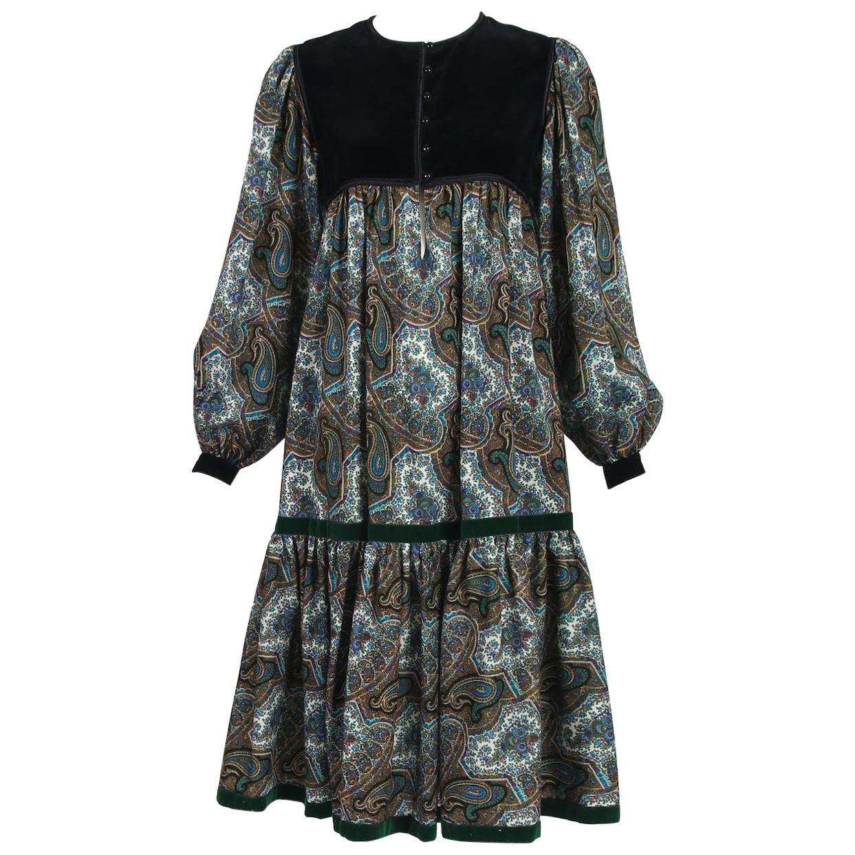 1976 Yves Saint Laurent Cossack Collection Dress