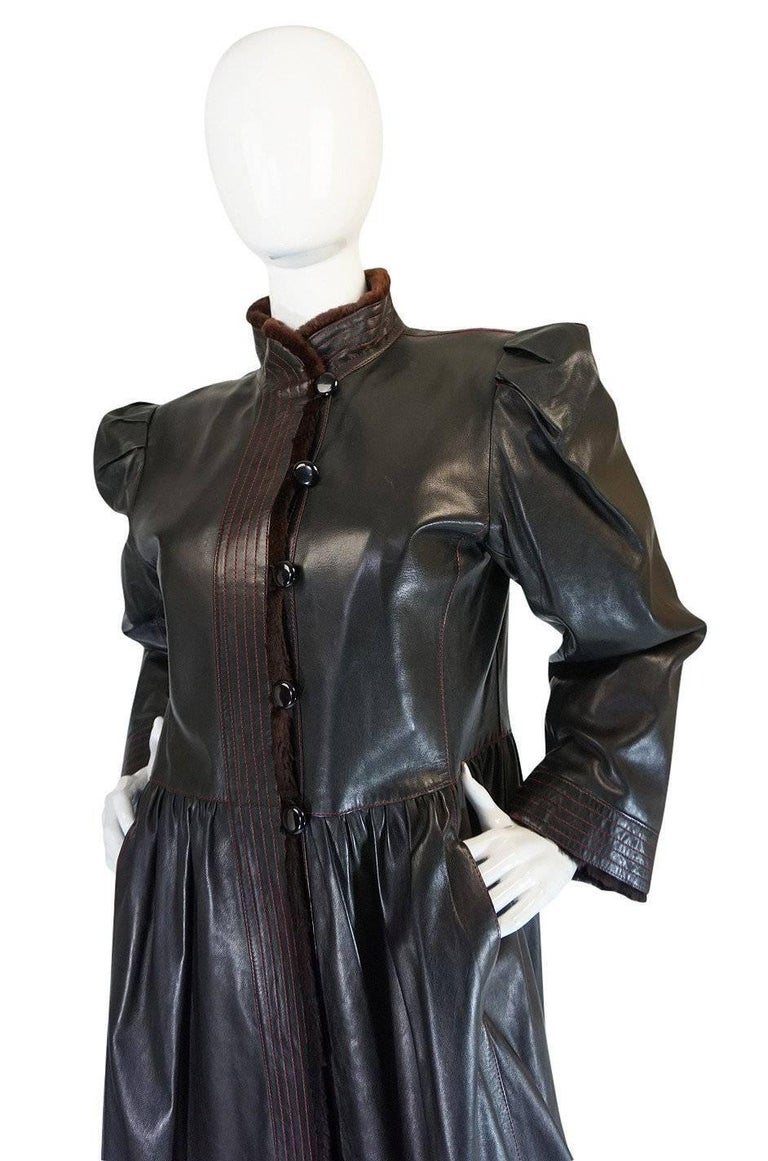 Yves Saint Laurent Russian Collection Fur and Leather Coat, 1976  For Sale 1