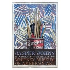 1977 Jasper Johns Whitney Museum Exhibition Poster