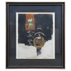 """1977 Johnny Friedlaender """"Mirage"""" Etching Signed Abstract Expressionism COA MCM"""