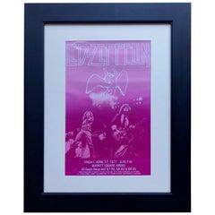 1977 Led Zeppelin Vintage Concert Poster Live at Market Square Arena