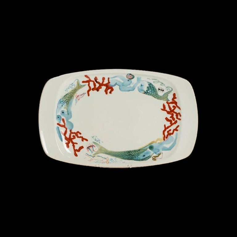 1977 Porcelain Salvador Dali Service in Fitted Trunk