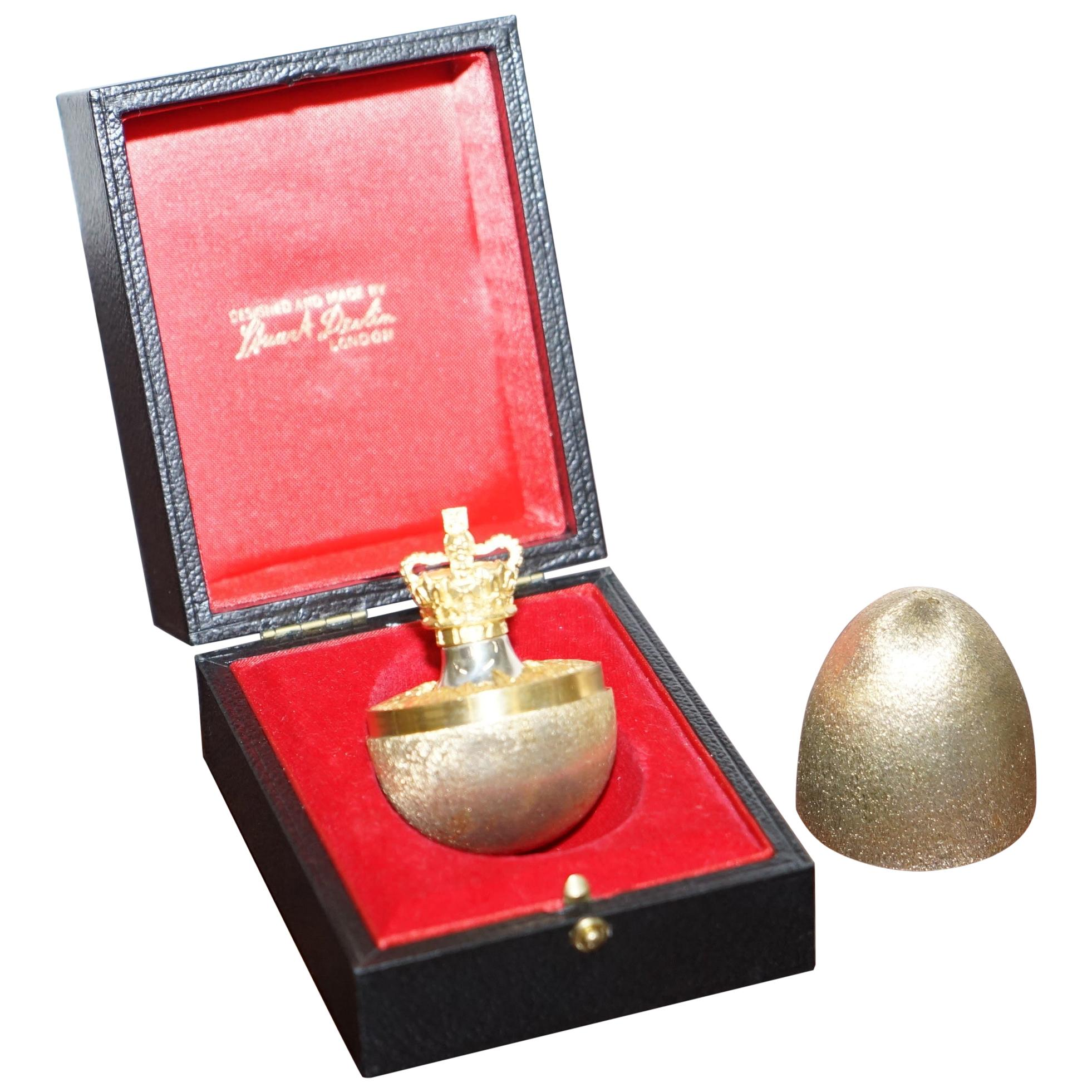 1977 Silver Jubilee Solid Sterling Silver Gold Gilt Stuart Devlin Surprise Egg