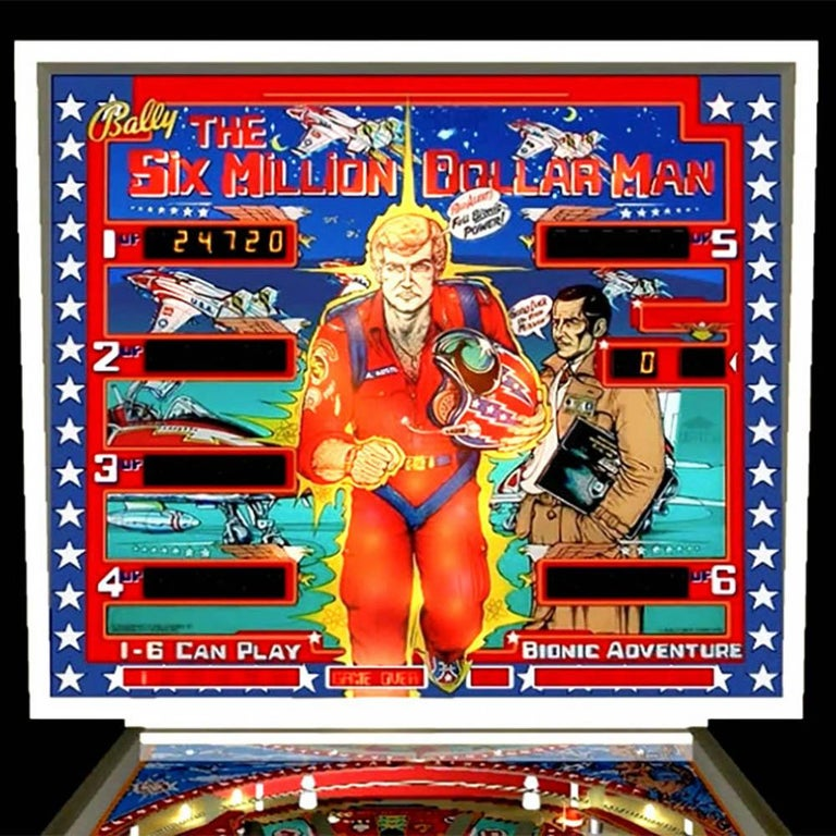 A rebuild to rival that of The Six Million Dollar Man himself!  If you need to be introduced to the phenomenon that was the 'Six Million Dollar Man' then you're probably too young to fully appreciate this pinball table based on the blockbuster