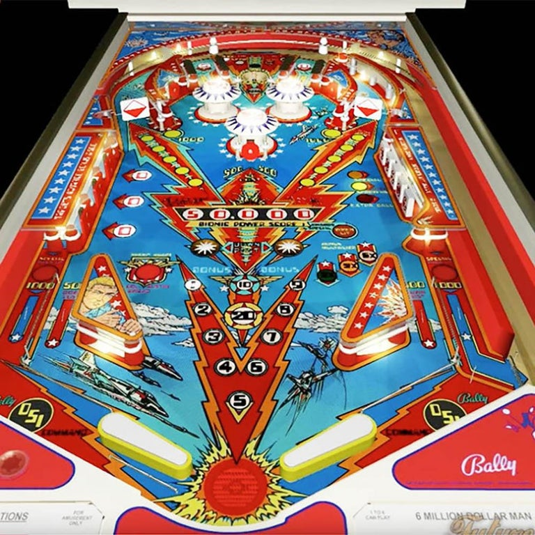 American 1977 Six Million Dollar Man Pinball Machine by Bally For Sale