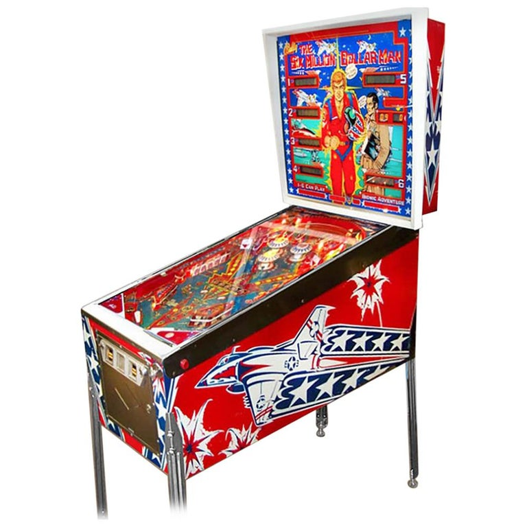 1977 Six Million Dollar Man Pinball Machine by Bally For Sale