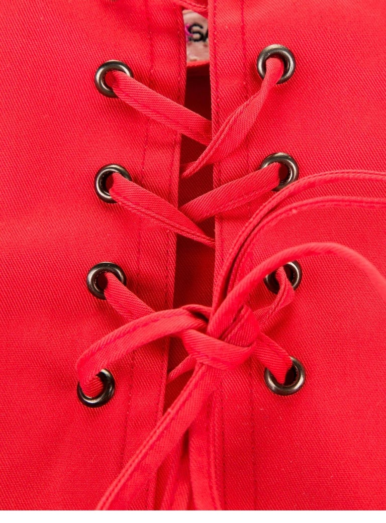 1977 Yves Saint Laurent Rive Gauche corset belt  In Good Condition For Sale In Austin, TX