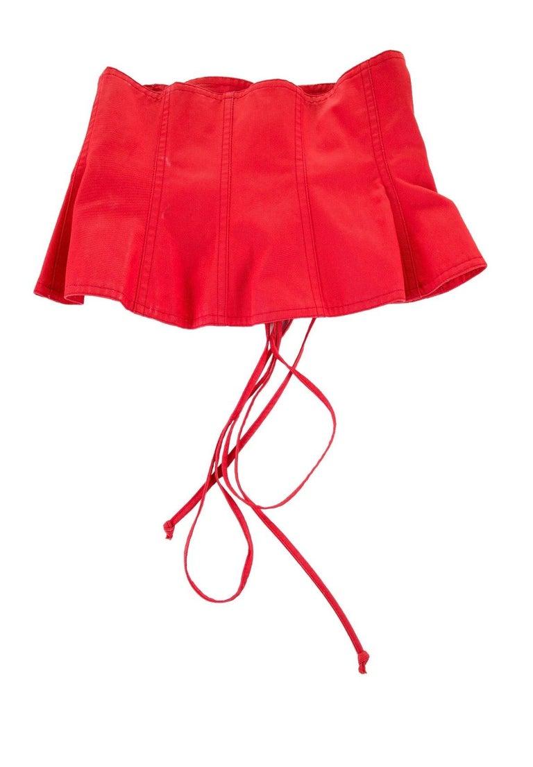 Women's 1977 Yves Saint Laurent Rive Gauche corset belt  For Sale