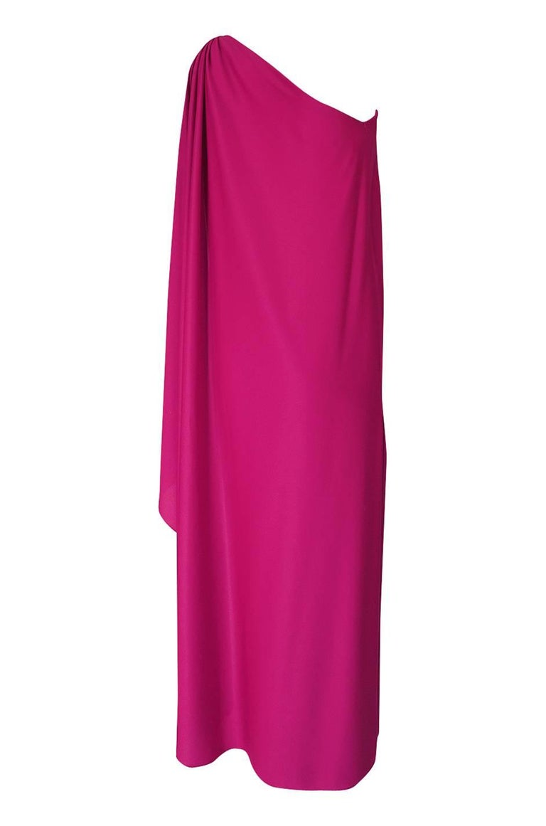 I am always on the look out for this style of dress by Halston. It is perhaps the most iconic of all of the Halston silhouettes and in 2016 a red version of this exact dress entered modern day fashion history when Kate Moss wore its twin on the