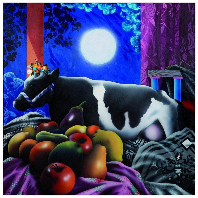 "1978 ""La Gran Odalisca"" Contemporary Spanish Painting by Eduardo Úrculo For Sale"