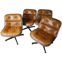 1978 Mid-Century Modern Armless Executive Chairs by Charles Pollock for Knoll