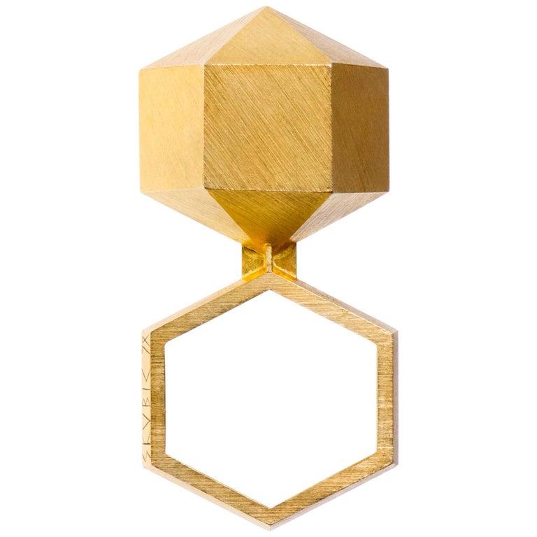 1978 Peter Skubic Gold Geometric Ring