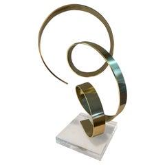 1979 Brass Abstract Sculpture by Dan Murphy