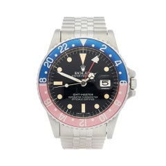 1979 Rolex GMT-Master Pepsi Stainless Steel 1675 Wristwatch