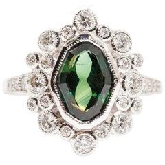 1.98 Carat Natural Sapphire and 0.62 Carat Diamond 18 Carat White Gold Ring