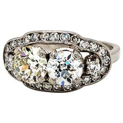 1.98 Carat Vintage Diamonds Ring Platinum
