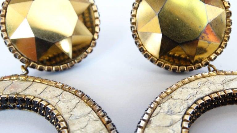 1980 Deanna Hamro Python Hoop Earrings  For Sale 14